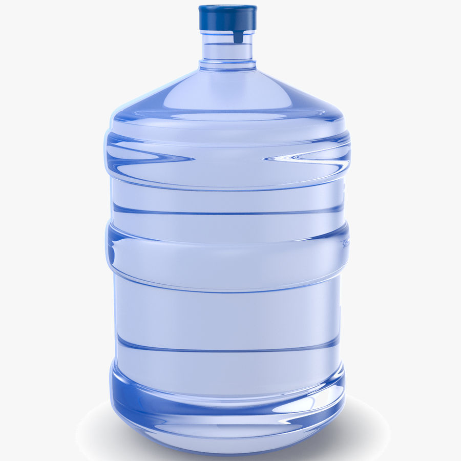 Water Bottle Container royalty-free 3d model - Preview no. 1