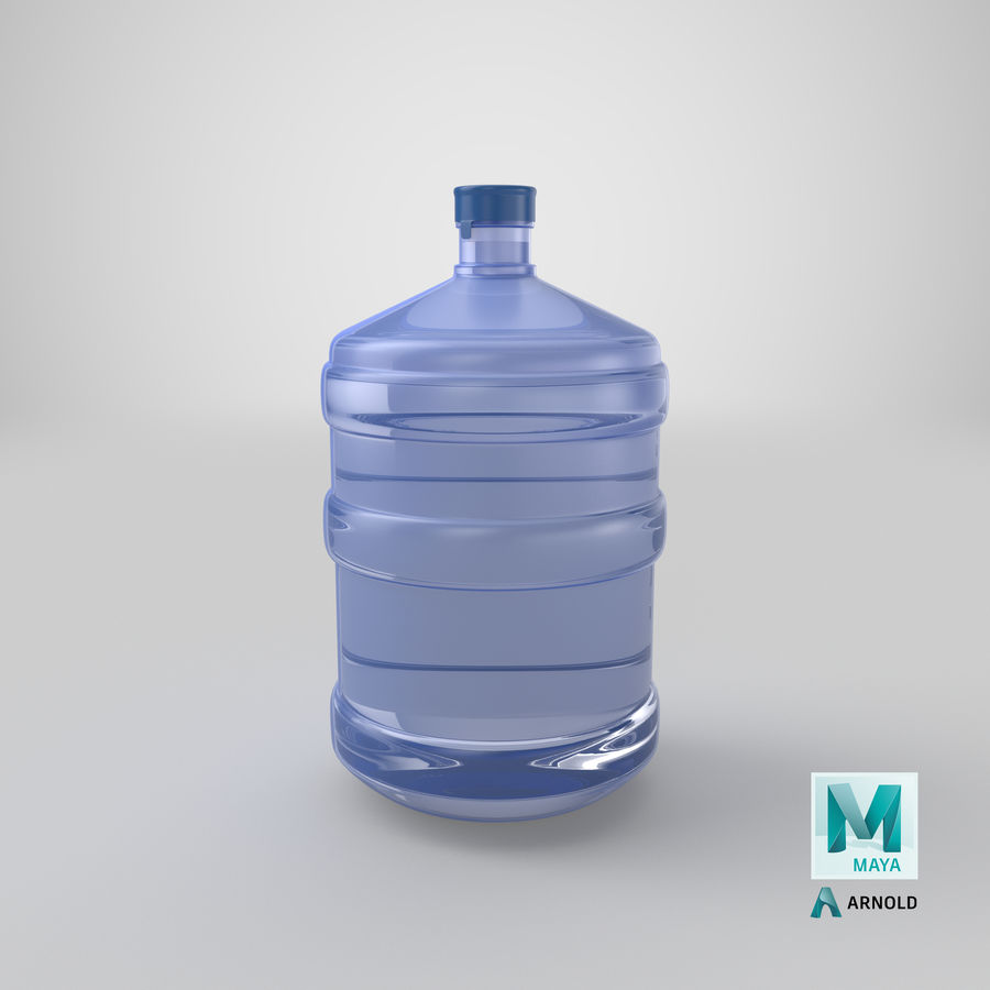 Water Bottle Container royalty-free 3d model - Preview no. 19