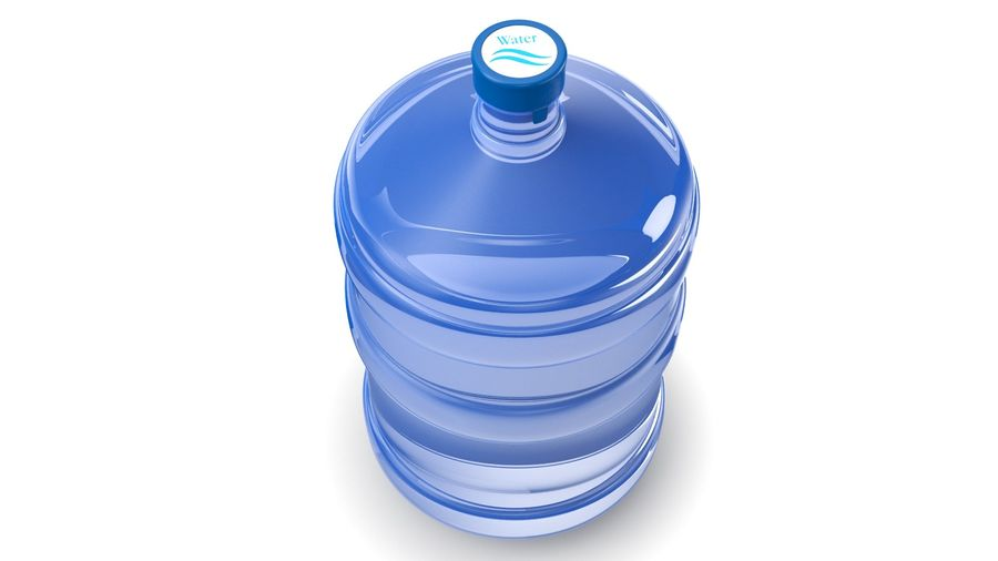 Water Bottle Container royalty-free 3d model - Preview no. 3