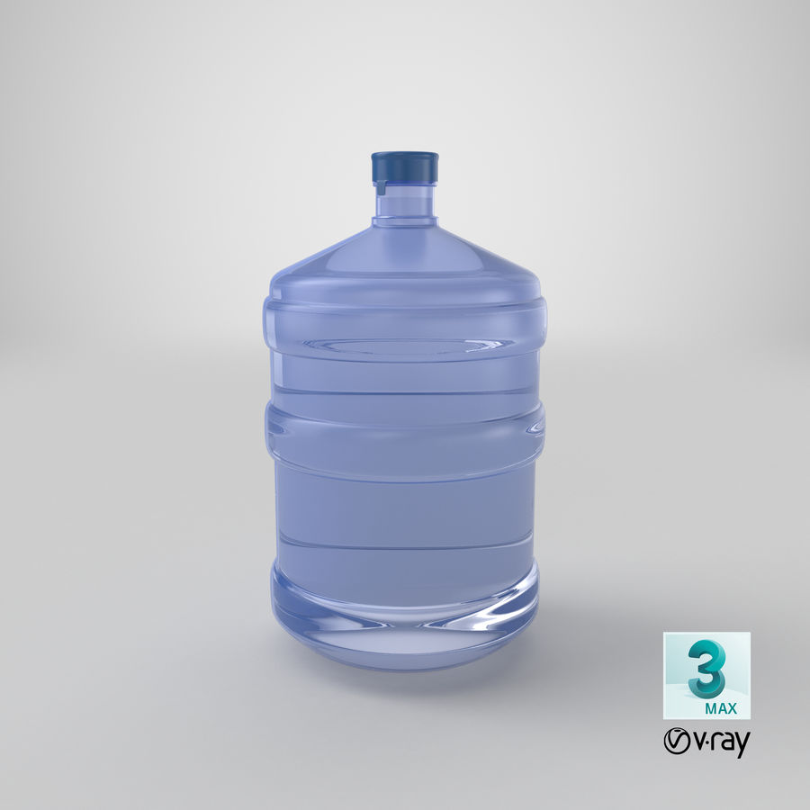 Water Bottle Container royalty-free 3d model - Preview no. 18