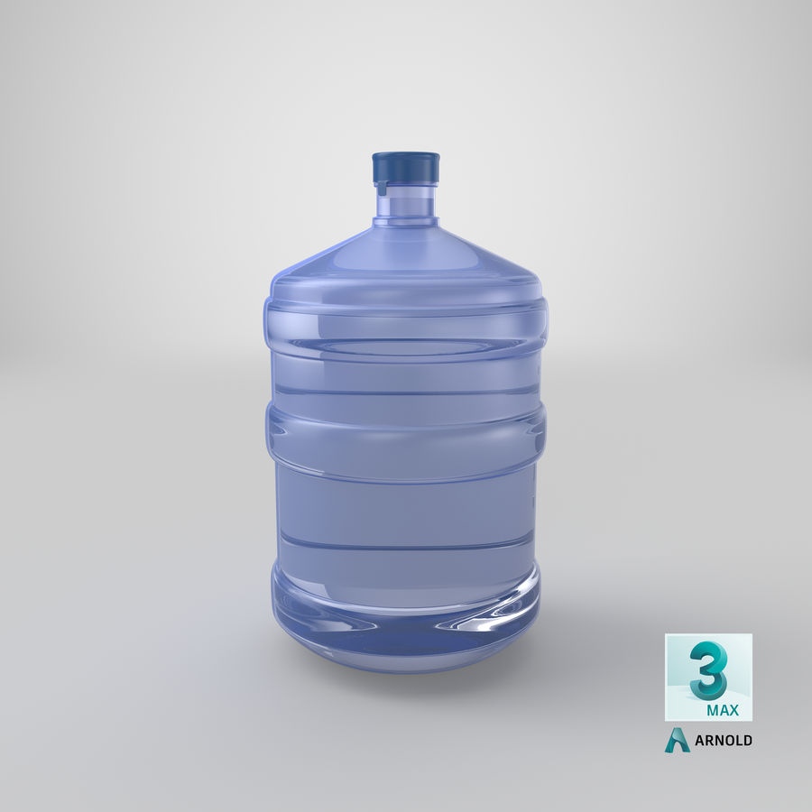 Water Bottle Container royalty-free 3d model - Preview no. 16