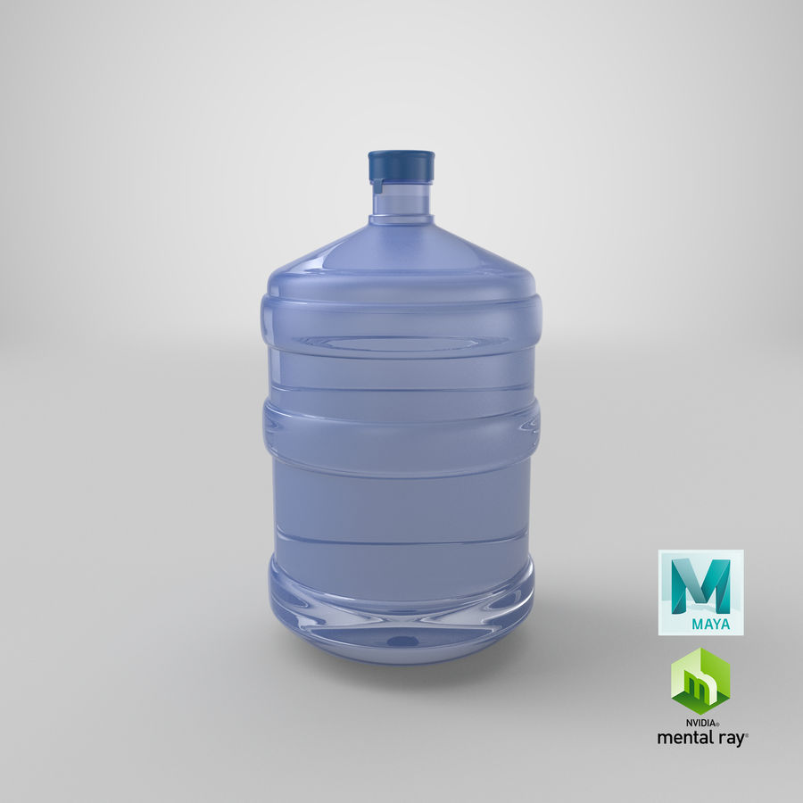 Water Bottle Container royalty-free 3d model - Preview no. 20