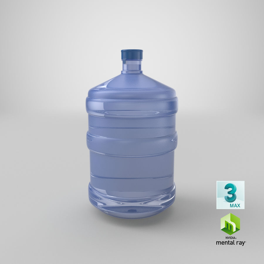 Water Bottle Container royalty-free 3d model - Preview no. 17