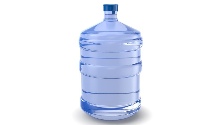 Water Bottle Container royalty-free 3d model - Preview no. 2