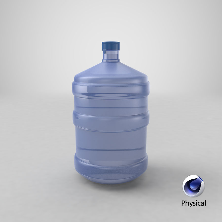 Water Bottle Container royalty-free 3d model - Preview no. 14