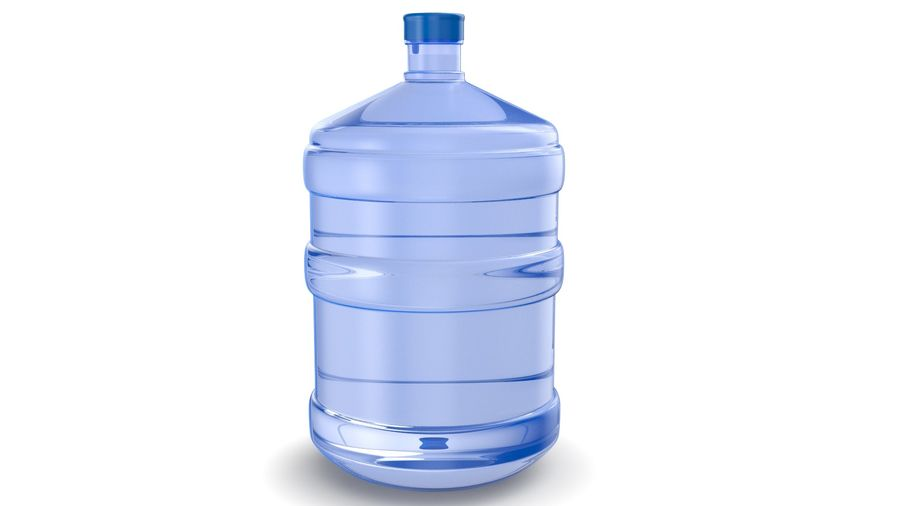 Water Bottle Container royalty-free 3d model - Preview no. 4