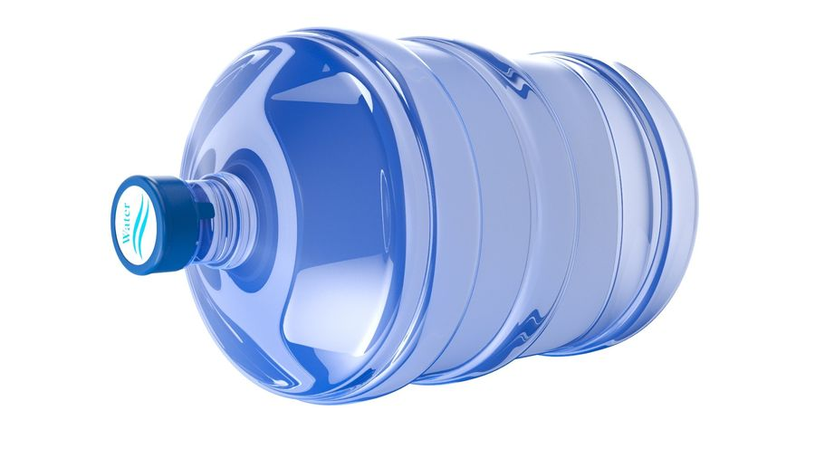 Water Bottle Container royalty-free 3d model - Preview no. 7