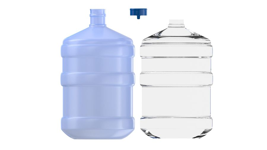 Water Bottle Container royalty-free 3d model - Preview no. 6