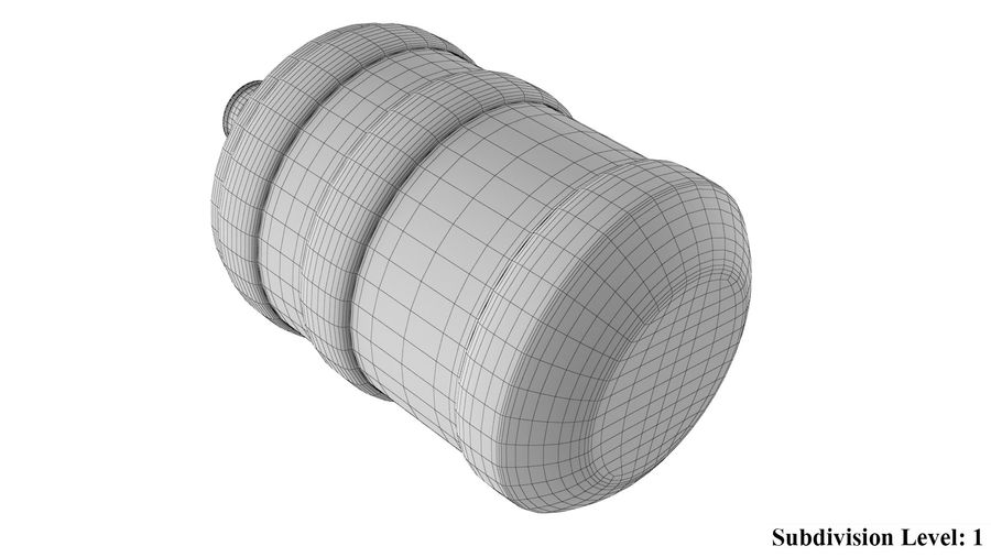 Water Bottle Container royalty-free 3d model - Preview no. 11