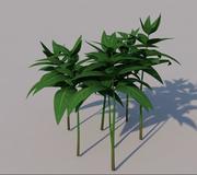 잎 잔디 3d model