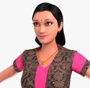 印度女孩B 3d model