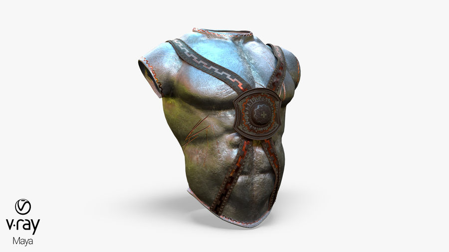 Body Armor royalty-free 3d model - Preview no. 14