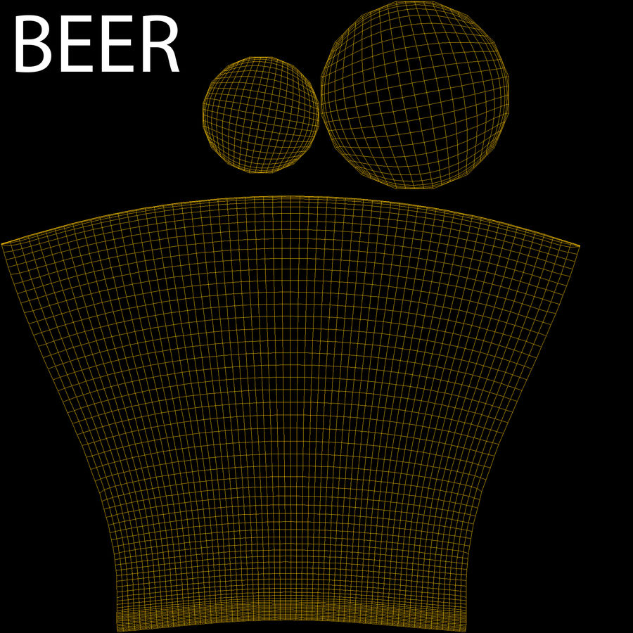 Vaso de cerveza royalty-free modelo 3d - Preview no. 10