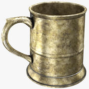 Rusted Pewter Mug 3d model