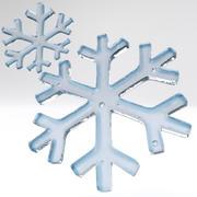 floco de neve 3d model