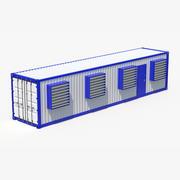 Estación de contenedores modelo 3d