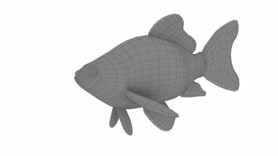 リアルな金の魚 royalty-free 3d model - Preview no. 10