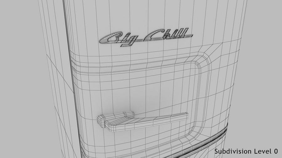 Big Chill Slim Fridge royalty-free 3d model - Preview no. 24