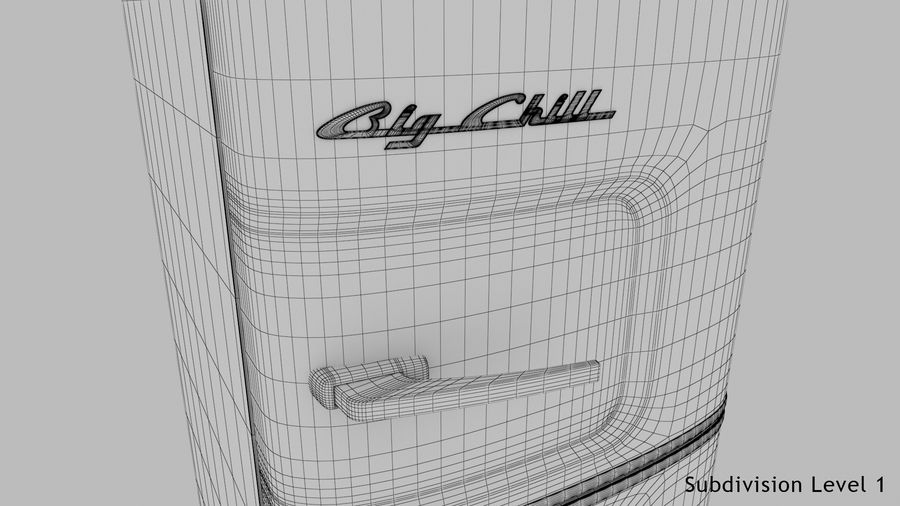 Big Chill Slim Fridge royalty-free 3d model - Preview no. 25