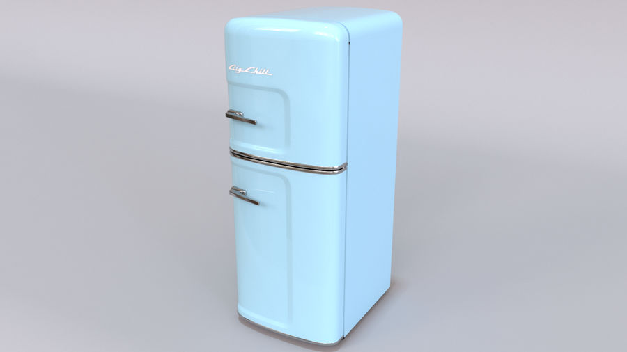 Big Chill Slim Fridge royalty-free 3d model - Preview no. 7