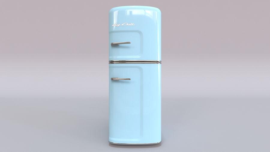 Big Chill Slim Fridge royalty-free 3d model - Preview no. 4