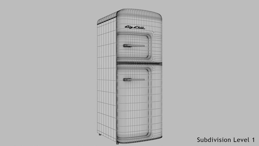 Big Chill Slim Fridge royalty-free 3d model - Preview no. 21