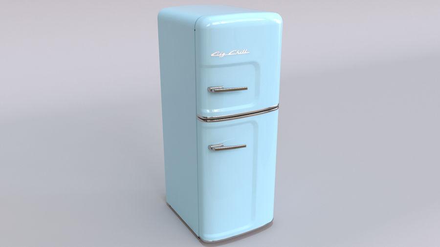 Big Chill Slim Fridge royalty-free 3d model - Preview no. 6