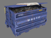 Müllcontainer blau 3d model
