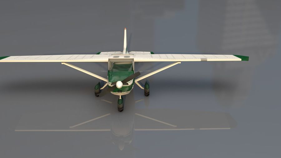 Avión Jet Cessna Business royalty-free modelo 3d - Preview no. 3