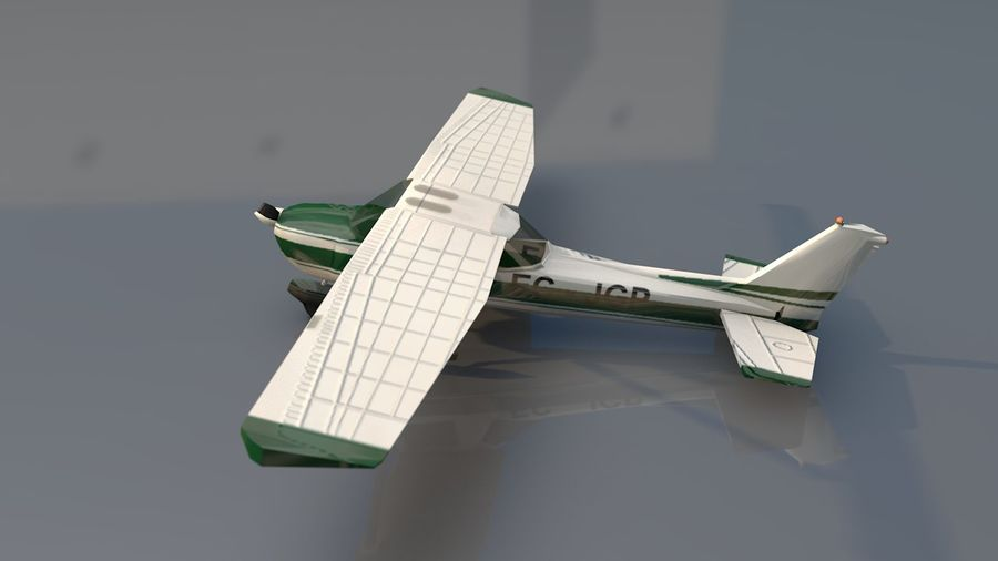 Avión Jet Cessna Business royalty-free modelo 3d - Preview no. 13