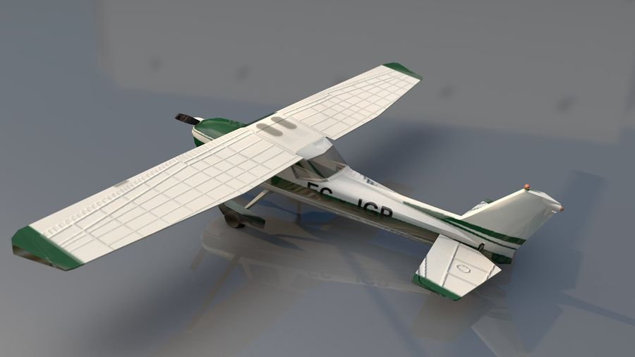 Avión Jet Cessna Business royalty-free modelo 3d - Preview no. 12