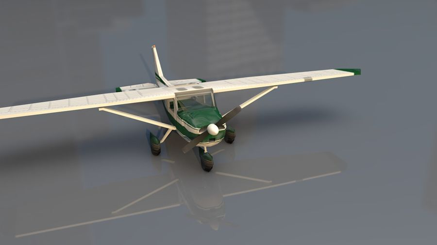 Avión Jet Cessna Business royalty-free modelo 3d - Preview no. 4