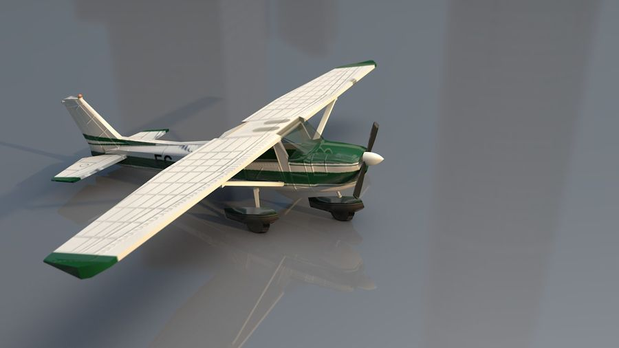 Avión Jet Cessna Business royalty-free modelo 3d - Preview no. 6