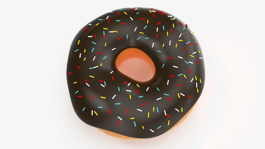 Donut royalty-free 3d model - Preview no. 3