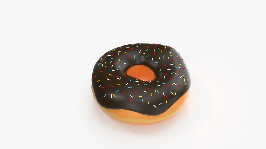 Donut royalty-free 3d model - Preview no. 7