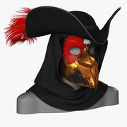Venetian Carnival Bauta Mask 3d model