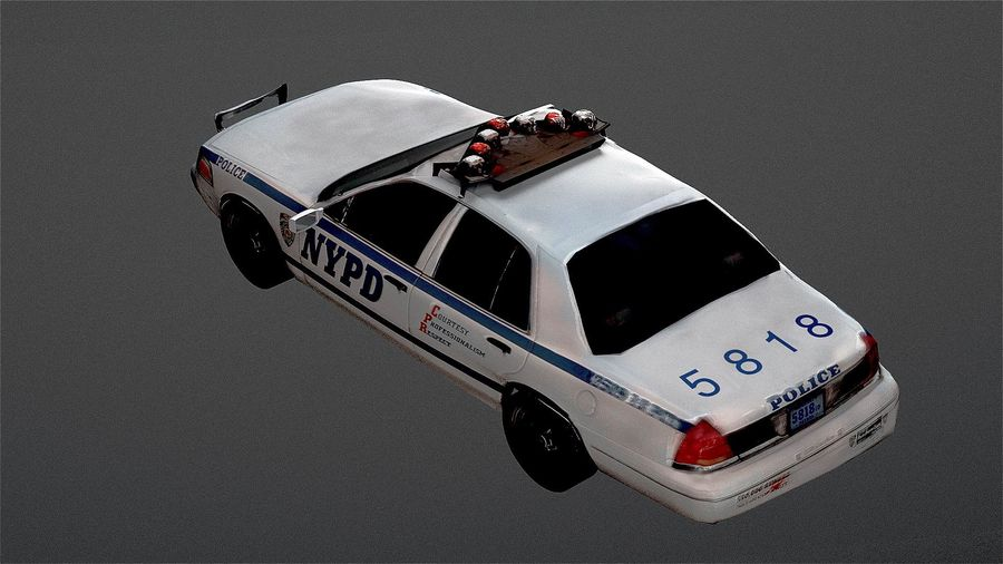NYPD politieauto royalty-free 3d model - Preview no. 5