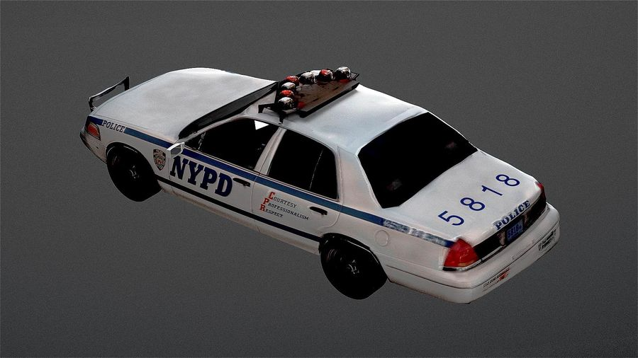 NYPD Police Car royalty-free 3d model - Preview no. 3