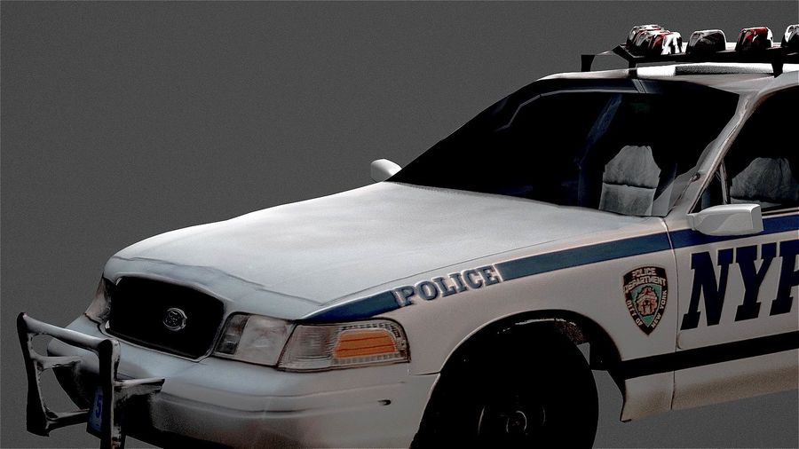 NYPD politieauto royalty-free 3d model - Preview no. 7