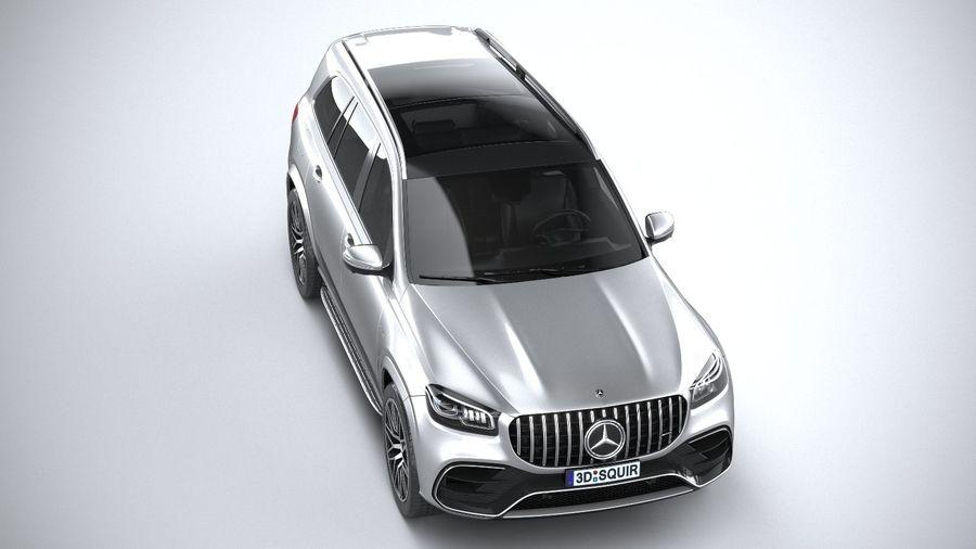 Mercedes-Benz GLS63 AMG 2021 royalty-free 3d model - Preview no. 13