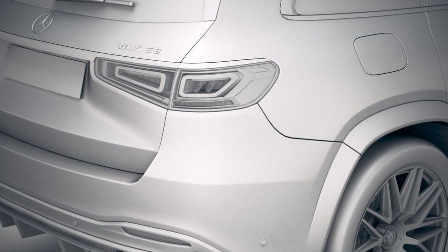 Mercedes-Benz GLS63 AMG 2021 royalty-free 3d model - Preview no. 22