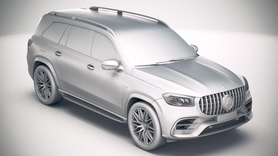 Mercedes-Benz GLS63 AMG 2021 royalty-free 3d model - Preview no. 24