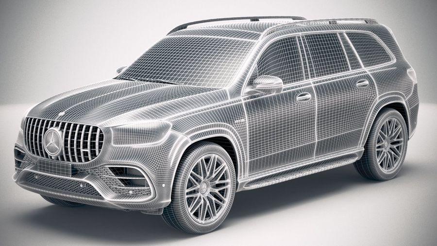 Mercedes-Benz GLS63 AMG 2021 royalty-free 3d model - Preview no. 27