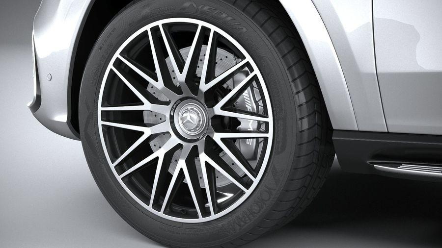 Mercedes-Benz GLS63 AMG 2021 royalty-free 3d model - Preview no. 17
