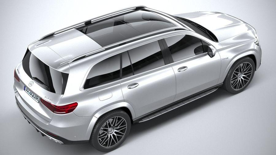 Mercedes-Benz GLS63 AMG 2021 royalty-free 3d model - Preview no. 11