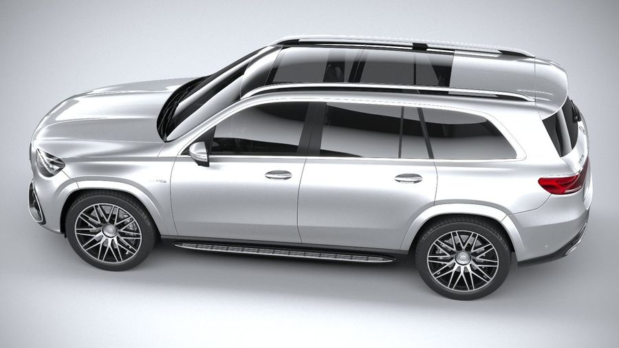 Mercedes-Benz GLS63 AMG 2021 royalty-free 3d model - Preview no. 10