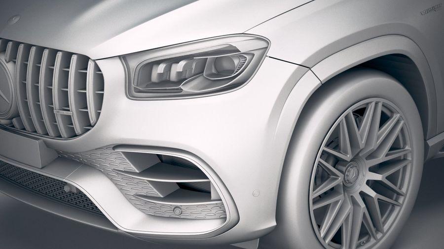 Mercedes-Benz GLS63 AMG 2021 royalty-free 3d model - Preview no. 21