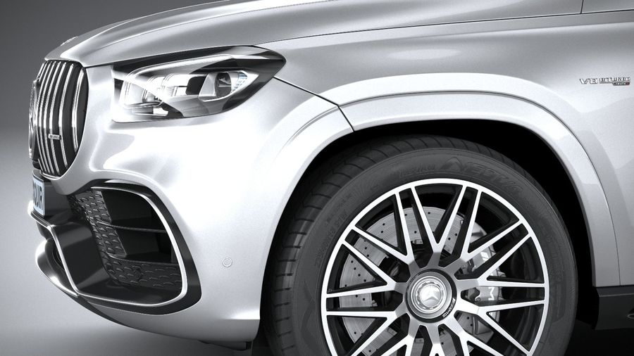 Mercedes-Benz GLS63 AMG 2021 royalty-free 3d model - Preview no. 4
