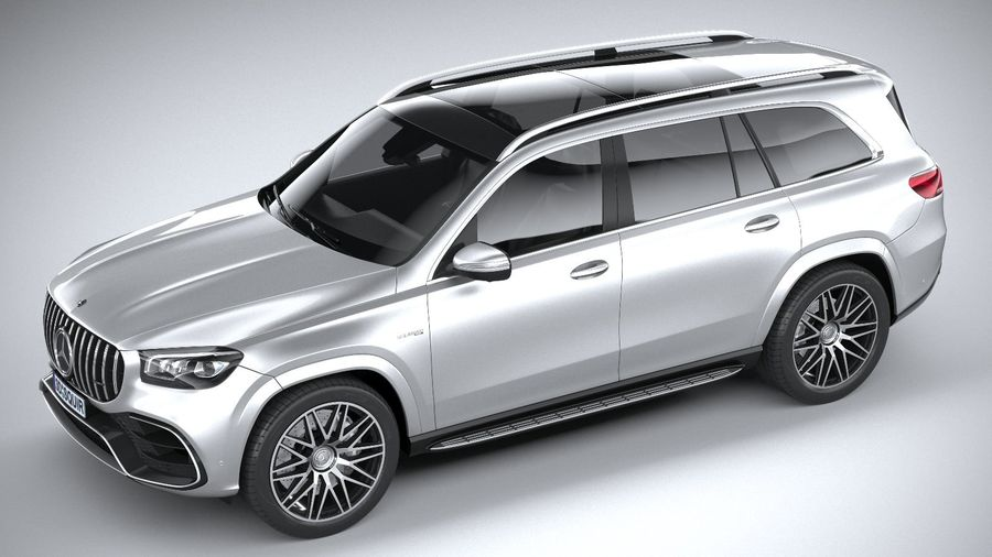 Mercedes-Benz GLS63 AMG 2021 royalty-free 3d model - Preview no. 8