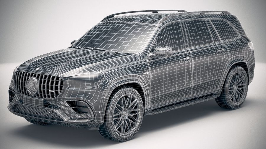 Mercedes-Benz GLS63 AMG 2021 royalty-free 3d model - Preview no. 29